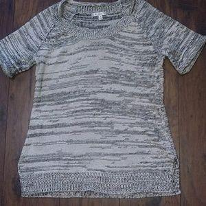 CAbi Marble black & white sweater sz med